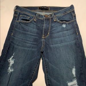 Flying monkey distressed straight cut jeans